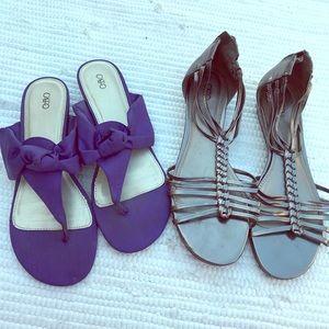 ae908d2b2 Cato Shoes - 2 CATOS SANDALS SIZE 11 Purple Pewter Bundle Sale